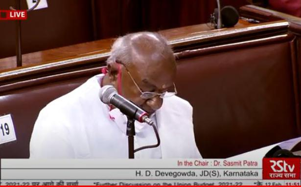 Parliament live updates   Govt. did little after removing main safety net for rural India: Former PM Deve Gowda - The Hindu