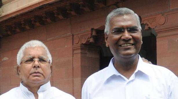 CPI leader D. Raja to meet Lalu Prasad in jail