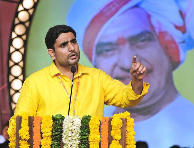 Nara Lokesh fired fresh salvos in a public meeting