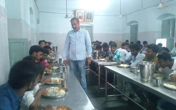 Where food is served to students free of cost