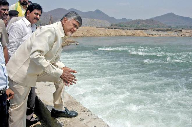 AP CM Chandrababu Naidu visited Polavaram Dam yesterday