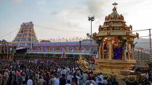 Splendour marks golden chariot procession in Tirumala