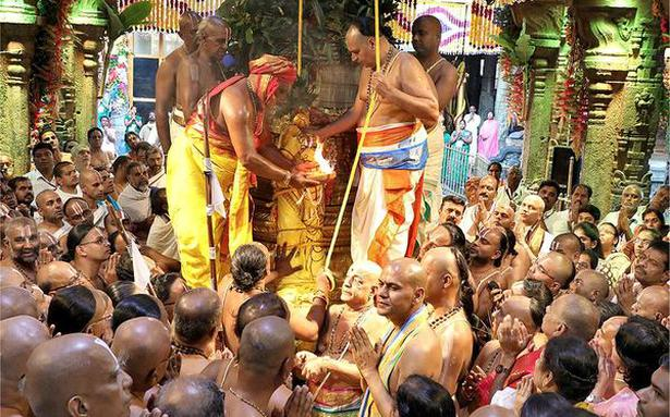 Brahmotsavams off to a grand start with 'Dwajarohanam'