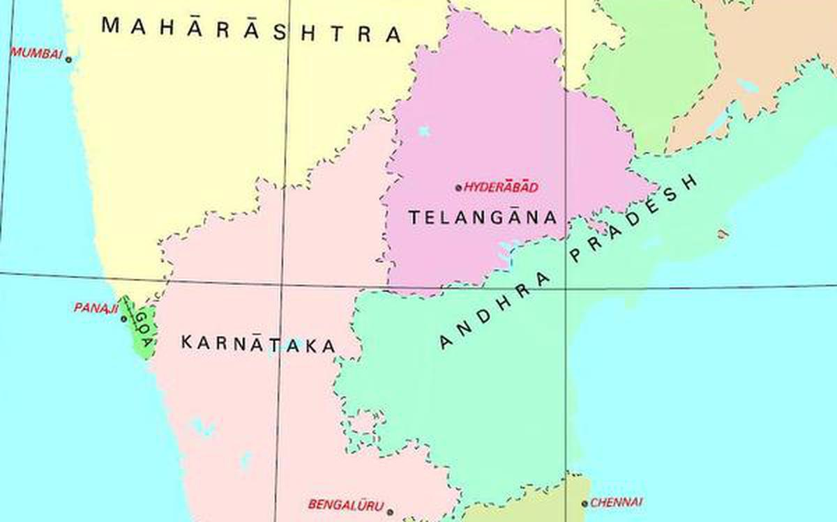 Hyderabad In India Map Amaravati finds no place in redrawn political map of India   The Hindu