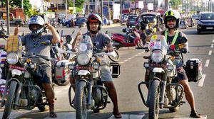 Biker quartet on Kathmandu to Kanyakumari mission