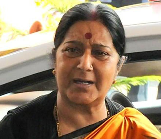 914685927e7 Sushma fumes as Amazon sells Tricolour mats - The Hindu