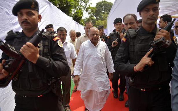 Mulayam rules out forming new party as of now
