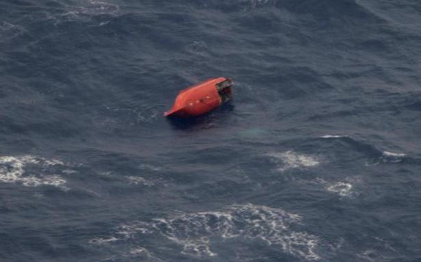 Search on for 10 Indian sailors of sunken merchant vessel