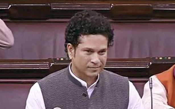 TENDULKAR 01 - Sachin out for duck in Rajya Sabha