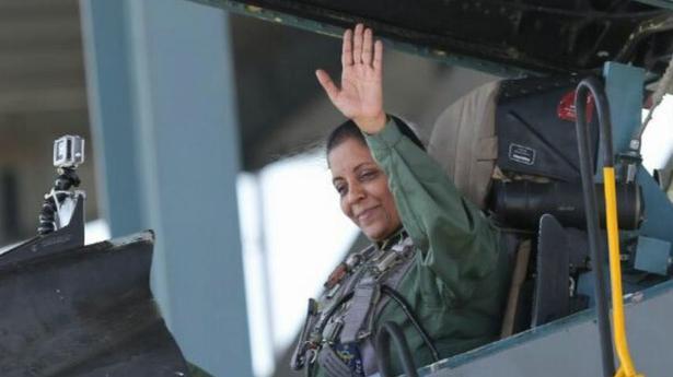 Defence Minister Nirmala Sitharaman undertakes sortie in Sukhoi 30 MKI