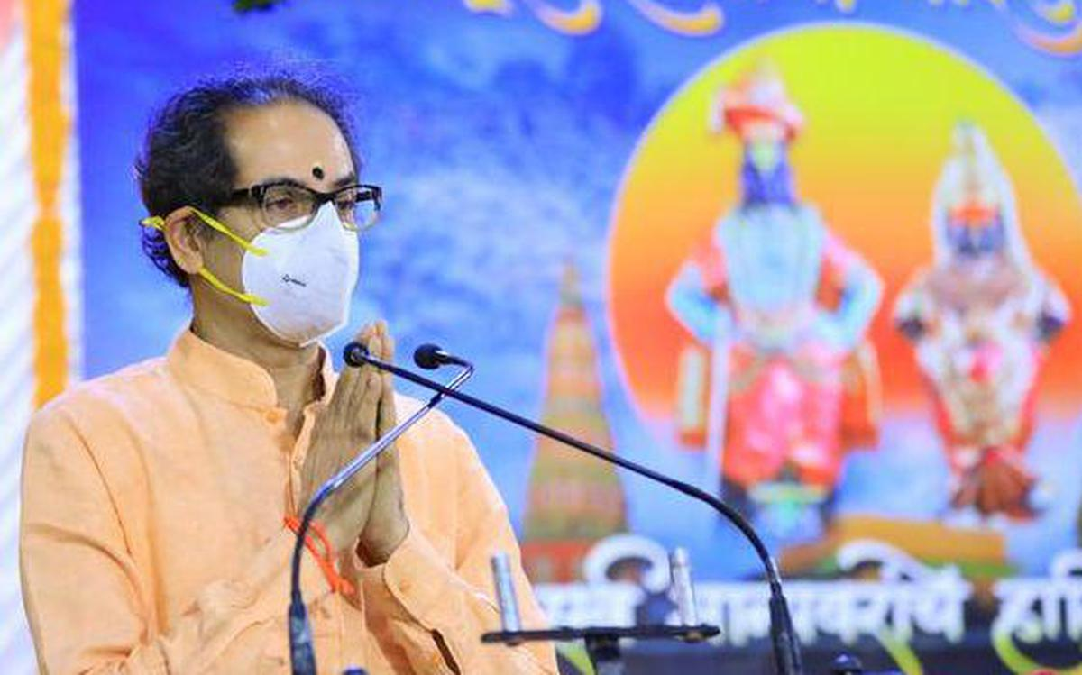 Chief Minister Uddhav Thackeray performs 'mahapuja' at Pandharpur Temple, prays for end of Covid-19 scourge - The Hindu