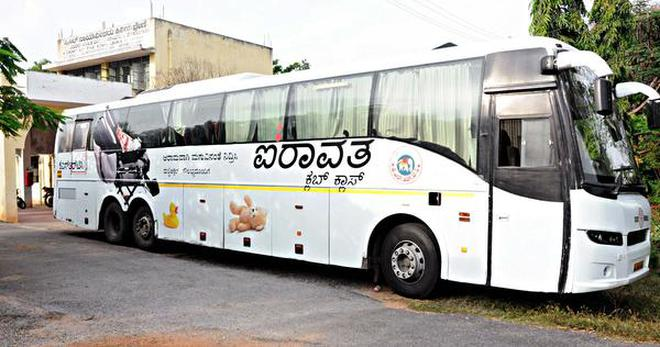 KSRTC bus attached in Mandya over unpaid compensation - The Hindu