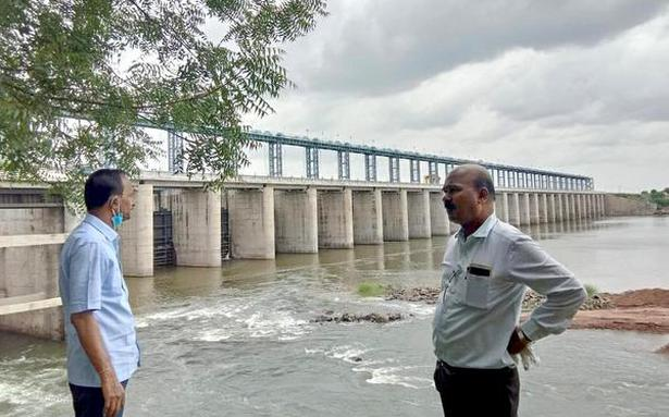 Water released from Sonna Barrage into the Bhima