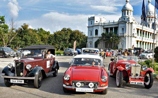 Vintage car rally adds to festivities