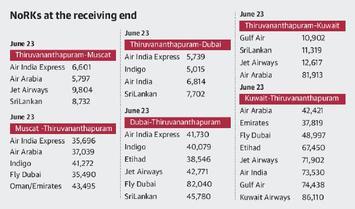 NoRKs sweat on high airfares - The Hindu