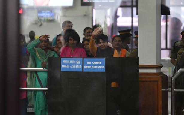 Sabarimala temple entry: Trupti Desai stays put at Kochi airport