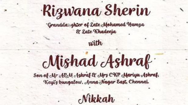 Seed embedded wedding invite goes viral the hindu stopboris Choice Image
