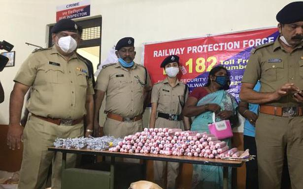 Huge cache of explosive materials seized from Chennai-Mangalore Superfast Express