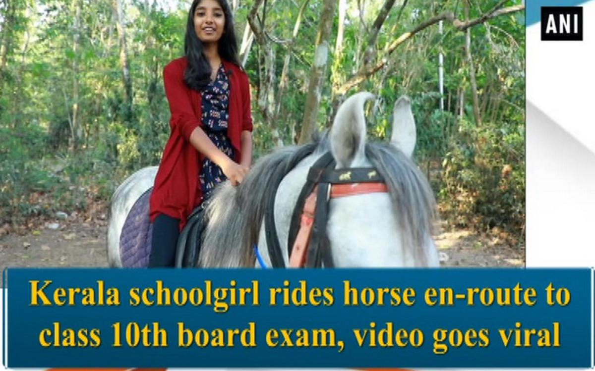 Video of Kerala girl riding a horse to board exams goes viral