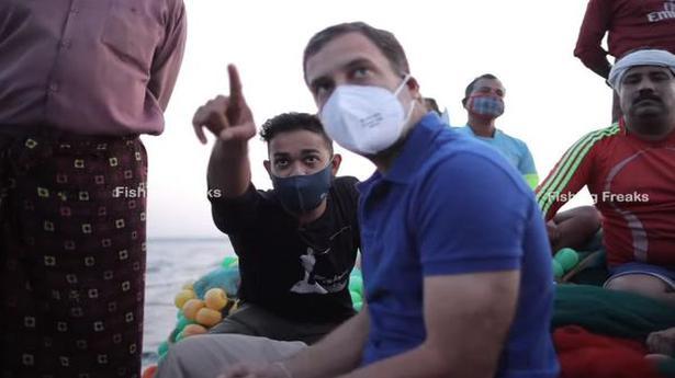 Rahul Gandhi's day out at sea in Kerala