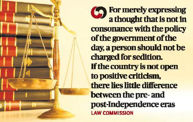 Law Commission calls for re-think on sedition clause