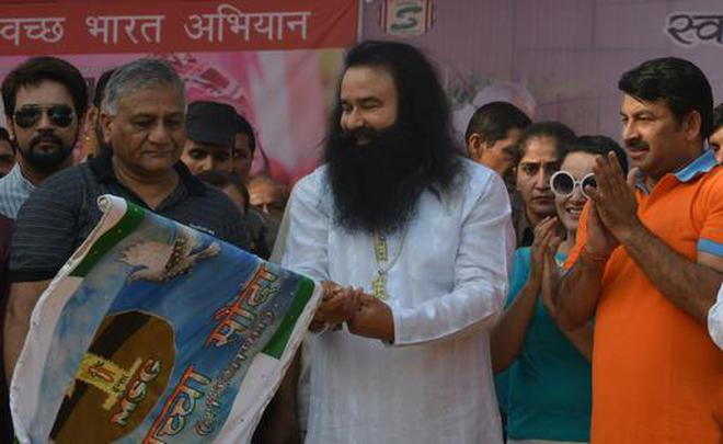 Image result for ram rahim with bjp
