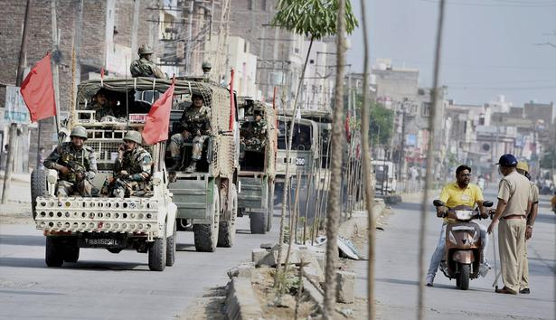 Image result for More army columns deployed in Sirsa ahead of Dera chief's sentencing