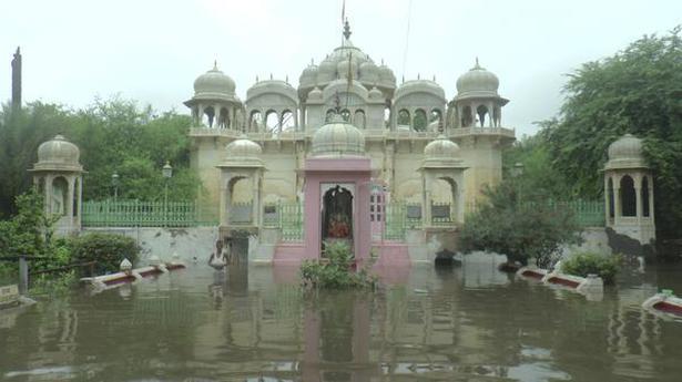 Heavy rains in eastern Rajasthan inundate roads, wash out rail tracks in Nagaur district