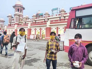 Coronavirus Lockdown Back In U P Migrants Stare At An Uncertain Future The Hindu