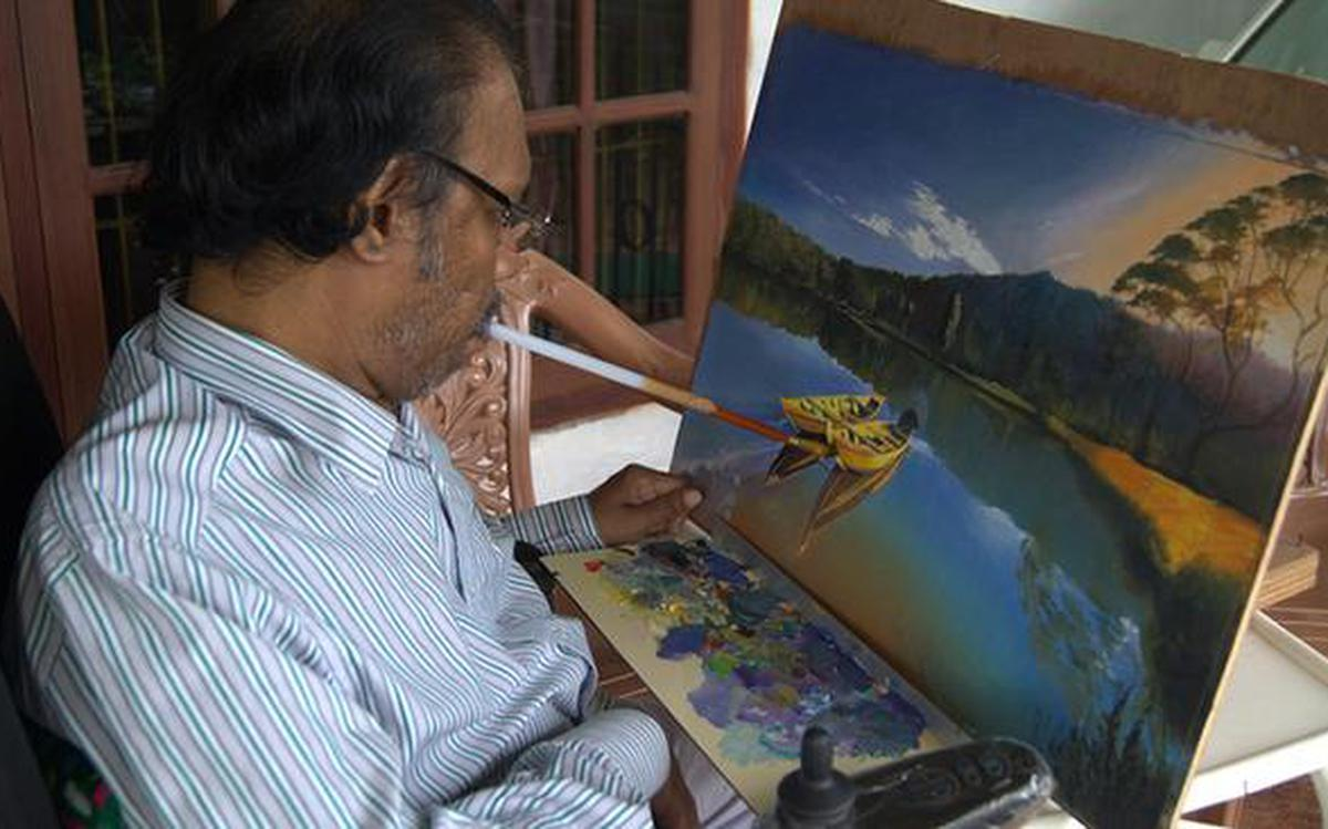These Artists Paint With Foot And Mouth The Hindu