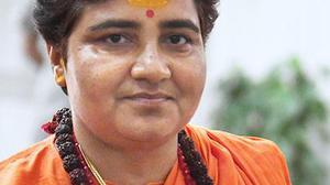 Pragya blames Opposition's 'marak shakti' for Swaraj, Jaitley deaths