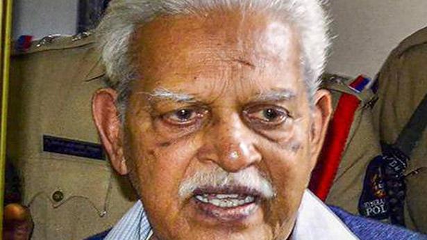 Maharashtra govt agrees to treat Varavara Rao at Nanavati Hospital for 15 days - The Hindu