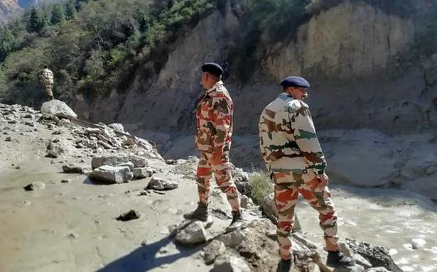 Uttarakhand glacial burst | Tapovan hydel project entirely washed away, says ITBP Officer - The Hindu