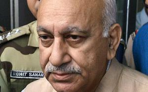 In court, M.J. Akbar says again allegations had damaged his standing in society