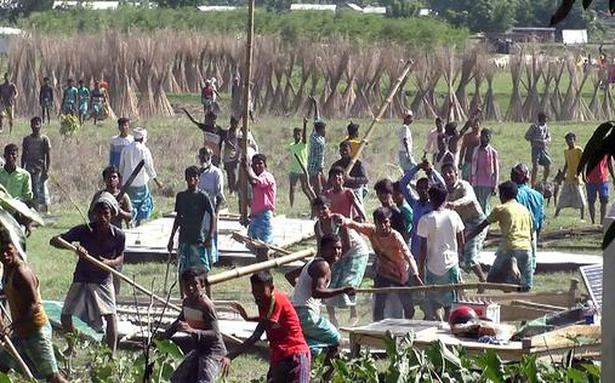 Two held for inciting violence during Assam eviction drive
