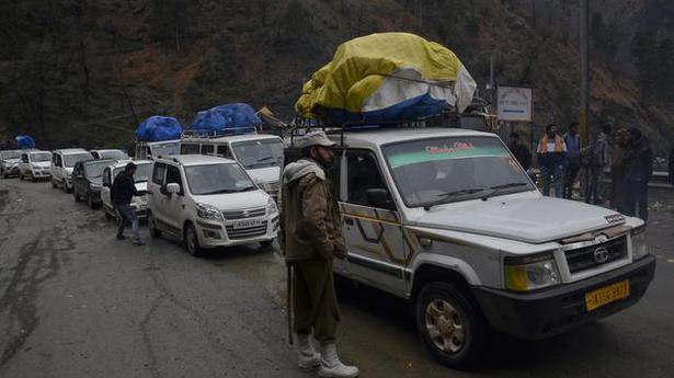 Jammu-Srinagar highway blocked due to landslides; Mughal Road closed after first snowfall