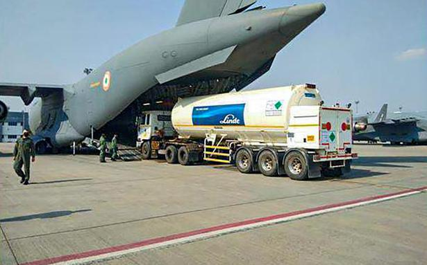 Coronavirus | Empty oxygen tankers to be flown back by IAF planes for refilling