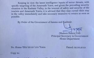 J&K govt. issues advisory, asks tourists, Amarnath Yatris to cut down stay