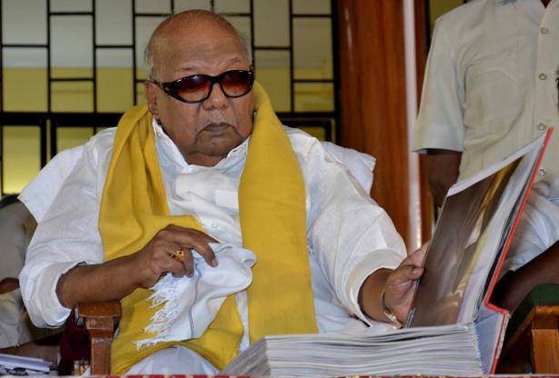 DMK chief M. Karunanidhi.
