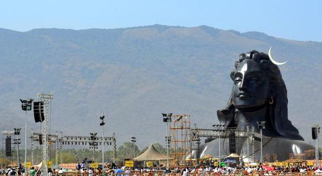 The 112 Feet Bust Of Adiyogi Statue At Isha Yoga Centre In Coimbatore