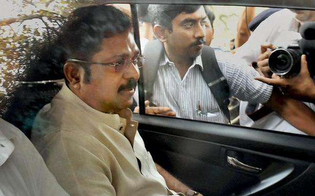 Dhinakaran grilled through the day by Delhi Police