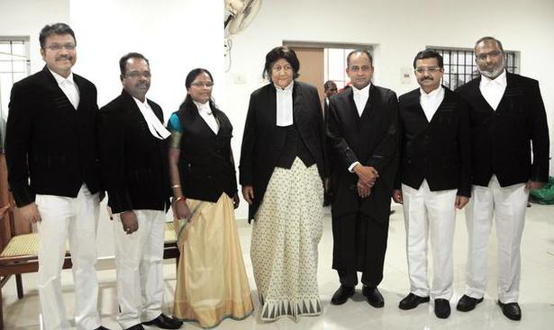 Six Hc Judges Sworn In The Hindu