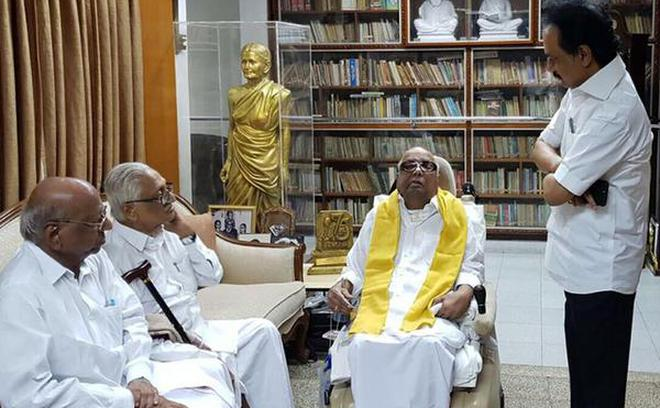Image result for DGP's circular triggers panic about Karunanidhi's health,