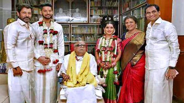 Karunanidhi Presides Over Family Wedding In Chennai The