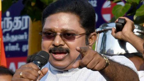 Image result for Tamilnadu AMMK TTV Dinakaran Men protested against flying squad