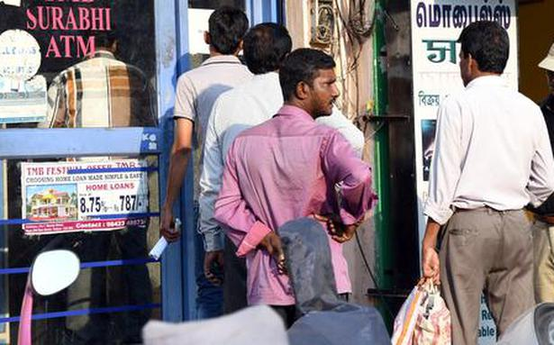 Many ATMs run out of cash in parts of Vellore district