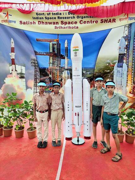 Corpn  school students witness Chandrayaan-2 launch - The Hindu