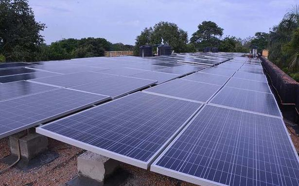Solar panels installed in NLCIL buildings
