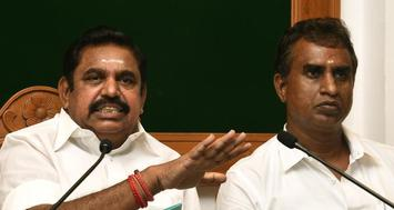 Minister for Municipal Administration and Rural Development S. P. Velumani (right) with Chief Minister Edapadi K. Palaniswami. | File