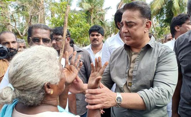 Image result for kamal haasan visited delta districts